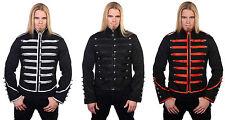 Military Adam Ant ROCK DRUMMER JACKET Banned Goth Punk -BLACK w/ 3 TRIM STYLES