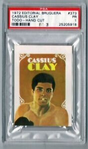 PSA 1 Spain 1972 Editorial Bruguera Todo Muhammad Ali Cassius Clay Boxing Card