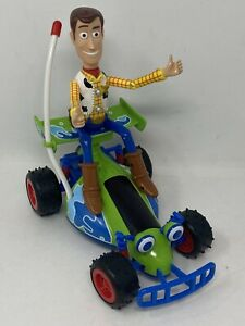 """Thinkway Toy Story 9"""" RC Car & WOODY No Remote TESTED WORKS"""