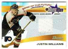 2001-02 BOWMAN YOUNGSTARS RELICS JUSTIN WILLIAMS JERSEY 1 COLOR PHILADELPHIA