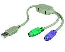 PS/2 PS2 USB Y-Adapter Maus Tastatur USB Y Adapter