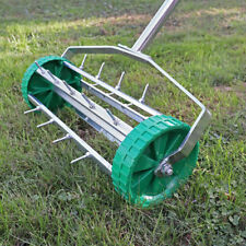 ROLLING STEEL OUTDOOR GARDEN LAWN AERATOR ROLLER GARDENING TOOL GRASS SOIL WIDO