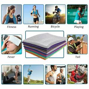 Instant Cooling Towel Sports Gym Drying Sweat Microfibre Absorb Quick-Drying UK