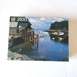 Milton Bradley Puzzle 2500 Pieces New Harbor, Maine Sealed 38 1/4 x 26 1/2