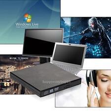 External Black USB 2.0 Slim 8x DVDRW DL DVD CD RW Burner Writer Drive All PC