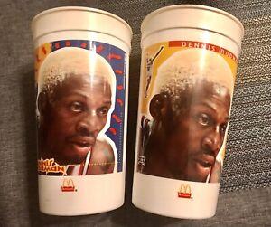 2 - McDonald's Dennis Rodman Chicago Bulls Cups Hair Change Color Vintage 1996