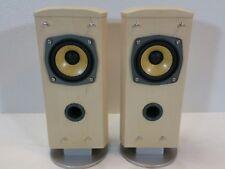 Pair JVC Compact Wood Bookshelf Stereo Speakers W Kevlar