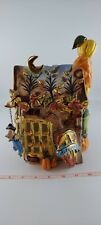 Blue Sky Clayworks Autumn House by Heather Goldminc Retired 2003 No bottom