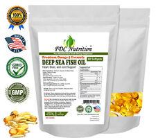 Fish Oil Omega 3 DHA/EPA 2000 mg 60 Softgels FRESH SHIPPING Pharmaceutical Grade