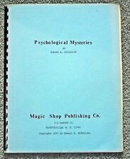 Psychological Mysteries - Edward R Hutchison - Magic Shop Publishing