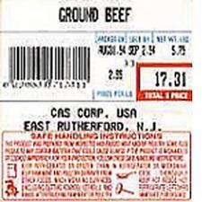 CAS LST-8040 LP-SeriesCL5000 Label UPC w/Safe Handling12 rolls 58 x 60 mm