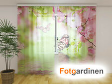 """Fotogardinen aus Chiffon """"Schmetterlinge"""" Vorhang mit Motiv, Fotodruck, auf Maß"""
