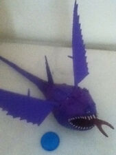 Dreamworks How To Train Your Dragon large Purple Thunderdrum Action Figure +Disc