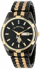 U.S. Polo Assn. Classic Mens Two-Tone Watch Black-Dial