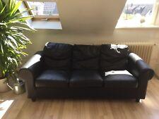 Ledercouch von Ikea in schwarz, 3 Sitzer