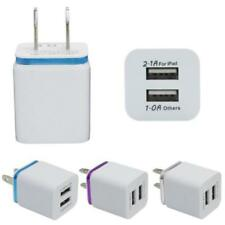 LOT of 10x Dual USB AC Wall Charger for iPhone 6 6s 5 7 & 7 Plus, for Samsung