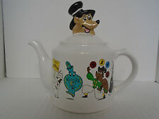 1995 Jim Beam Wade Animated Characters Ceramic White Teapot Limited Ed. 1/1700