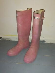 Pink Hunter Wellies Size UK 8