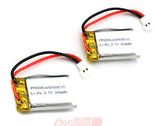 2X 602030 3.7V 300mAh LiPo Battery for MP3 MP4 Model Toy High Rate U/C/R/A