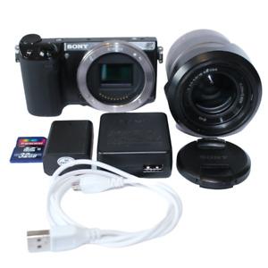 Sony Alpha NEX-5R 16.1MP Digital Camera, Black + 18-55mm Lens, Charger, SD Card