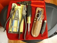 Lot- 9 Electrician Tools: Klein, Jensen, Camillus, Other -Used
