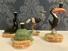 More details for vintage guinness advertising collectables resin ornaments set of 4 figurines