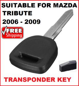 1 x Transponder Car key blank suitable for  Mazda Tribute 2006 2007 2008 4d-63