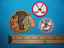 ** 3 CHICAGO BLACKHAWKS NHL NATIONAL LEAGUE HOCKEY PATCH CREST EMBLEM   **