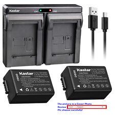 Kastar USB Dual Charger Battery for Panasonic DMW-BMB9 & Panasonic Lumix DC-FZ80