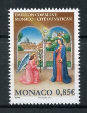 Monaco 2017 MNH Christmas Annuncation JIS Vatican 1v Set Seasonal Stamps