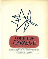 1959 Mini Poster Lithograph ORIGINAL Print Georges Braque Exhibition 18 August