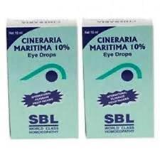 2x10ml SBL HOMEOPATHIC  CINERARIA  MARITIMA Eye Drops 10% Eye Drops INTL P