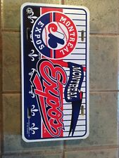 Montreal Expos Plastic License Plate/ Tag