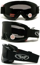 Windshield Smoke Anti Fog Fit Over Glasses Motorcycle Safety Goggles W/Pouch