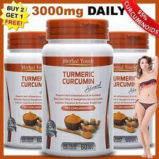 TURMERIC 95% CURCUMIN ANTIOXIDANT 100% PURE TUMERIC PILLS JOINT RELIEF CAPSULES