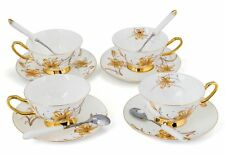 Porcelain Tea Cup and Saucer Coffee Cup Set White color with Saucer and Spoon s3