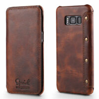 Samsung Galaxy S10/9/8 Plus Note 9/8 Genuine Leather Wallet Flip Case Card Cover