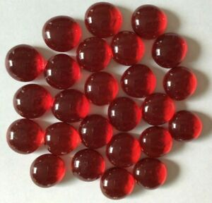 Red Medium Luster Glass Gems flat-backed Mosaic Tiles Crystal Pebbles Nuggets 25