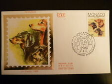 MONACO PREMIER JOUR FDC YVERT 1624     CHIENS   TECKELS     3F      MONACO  1988