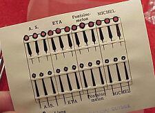 Vintage Font- ETA- Michel- A.S. 18L Watch Baton Blued Hands 12 PAIR Switzerland