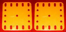Two Meccano  yellow plastic Plates, Part No 194a
