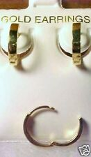 10Kt Pure Solid Yellow Gold 13MM Huggie Earrings....Gift Box