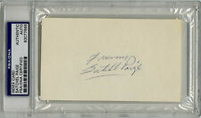 Satchel Paige SIGNED 3x5 Index Card (DEC) PSA/DNA AUTOGRAPHED