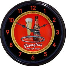 Yuengling Black Label Pottsville PA Beer Tray Wall Clock DG Yeungling & Sons 10""