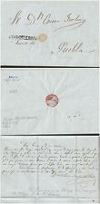 O) 1853 MEXICO, PREFILATELIC-COMPLETE LETTER, CHALCHICOMUL, XF