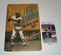 BRAVES Hank Aaron signed book I Had a Hammer JSA COA AUTO Autograph 1st Edition