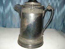ANTIQUE REED & BARTON PITCHER SILVERPLATED WITH CERAMIC LINER, FOR HOT OR COLD