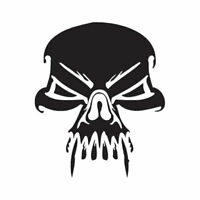 Skull Death Vampire Fang - Decal Sticker - Multiple Color & Sizes - ebn1100