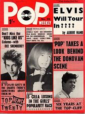 Pop Weekly Magazine 22 May 1965     Donovan     Tom Jones     The Animals