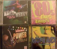4x TimeLife Cd Lot 80s & 90s Rock Pop Ballads Chart Topper Dance Mix 6-discs Vg+